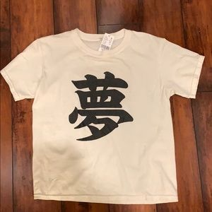 Brandy Melville Chinese writing top